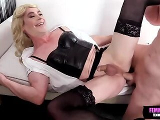Sissy Flight Attendant Craves Pilot Cock