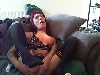 Popper, Porn and Dildos 3 - she cums hard whilst getting high