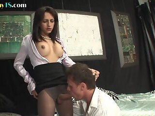 Vintage classy shemale assfucks guy with her sweet shecock