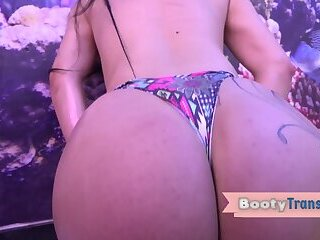 Big booty trans babe fucked by big black cock