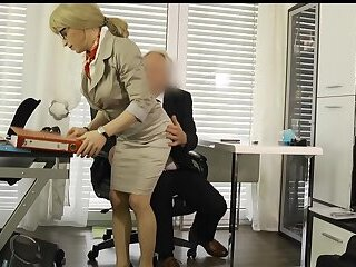 Hot Office Fuck: Secretary blown and ass fucked by her boss
