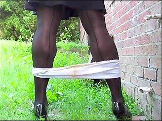 BlueGirl70 Panties Off Outdoors