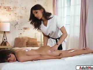 Shemale masseuse Jade Venus offers happy end to ts Kate Zoha