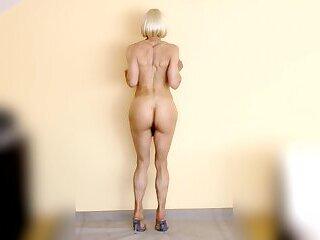 Loli posing naked