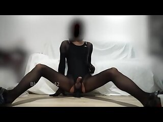 CD Anal Masturbates using a cm Long Dildo Multiple jizz