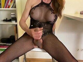 Body stocking cumshot