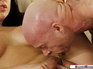 Busty trans Chanel Santini licks and fucks a trans mans cunt